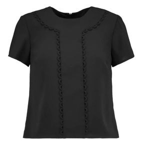 NWT RED VALENTINO Black Silk Top - Size 38